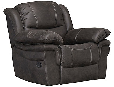 Huxford Glider Recliner, Steel Grey, Grey, large