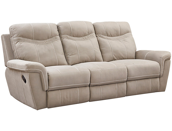 ... Monroe Reclining Sofa, Grey, , Large ...