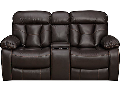 Peoria Java Manual Reclining Console Loveseat, , large