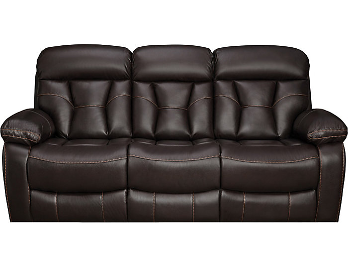 Peoria Java Manual Reclining Sofa With Drop Down Table Large