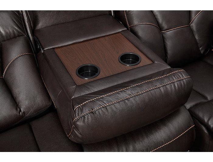 Peoria Reclining Sofa, Black, , large
