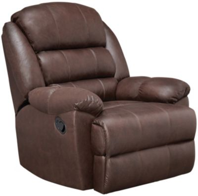 Garrett Rocker Recliner, Chocolate, swatch