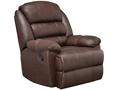 Garrett Rocker Recliner, Chocolate Brown, , large