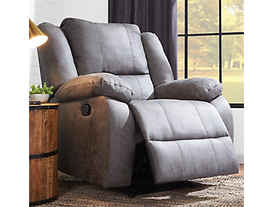 Mitchell Rocker Recliner, Grey, large