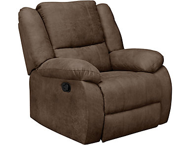 Mitchell Rocker Recliner, Brown, large