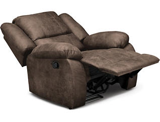 Mitchell Brown Manual Rocker Recliner, Brown, large