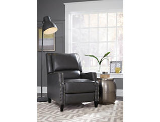 Alston Charcoal Push Back Recliner, Grey, large