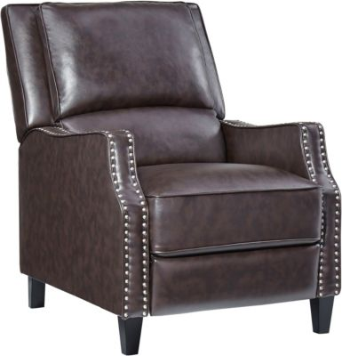 Alston Push Back Recliner, Brown, swatch