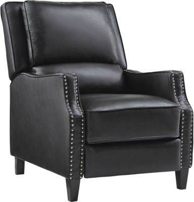 Alston Push Back Recliner, Black, swatch
