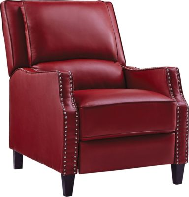 Alston Push Back Recliner, Red, swatch