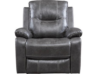 Emmert Charcoal Manual Glider Recliner, , large
