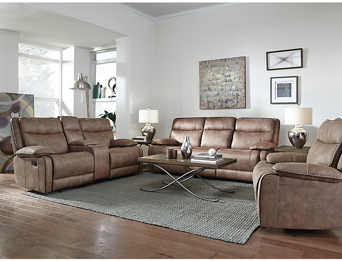 Cole Reclining Sofa With Drop Down Table