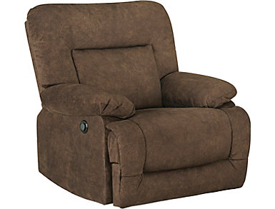 Jordan Mocha Power Recliner, , large