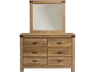 Stanley Rustic Knotty Pine Mirror, , large