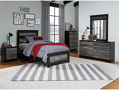 Brookfield Grey Full Headboard, , large