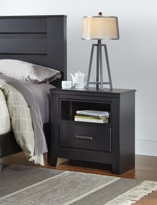 Haywood Black Nightstand