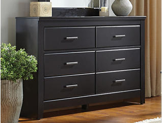 Haywood 6-Drawer Dresser, Black, , large