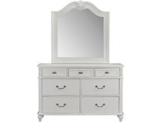 Olivia White Mirror, , large