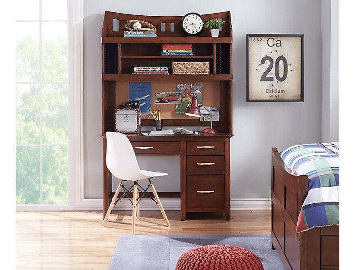 3 Drawer Computer Desk, , large