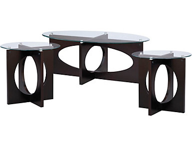 Dania Espresso 3 Pack Occasional Tables, , large