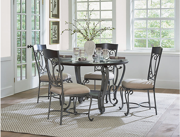 Astounding Cyprus Table And 4 Chairs Outlet At Art Van Pdpeps Interior Chair Design Pdpepsorg