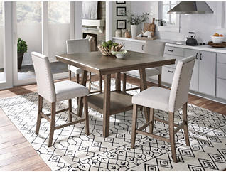 Halden Walnut finish Dining Set, , large