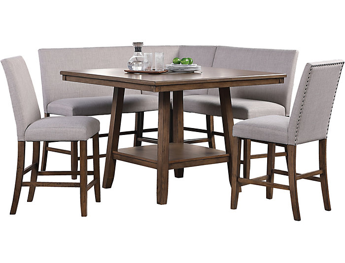 Halden Corner Bench Table Set