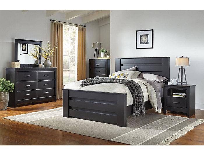 Haywood 7 Piece King Bedroom Set, Black | Outlet at Art Van