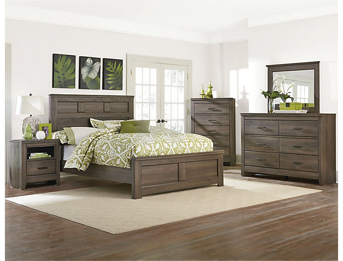 Haywood Full Bedroom Set, Weather Brown