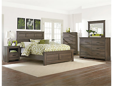 Haywood Full Bedroom Set, Weather Brown, , large