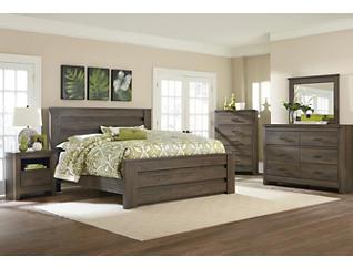 Haywood Weathered Brown King Bed, , large