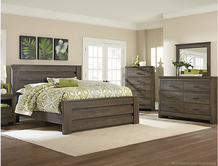 Haywood 7 Piece Queen Bedroom Set, Brown | Outlet at Art Van