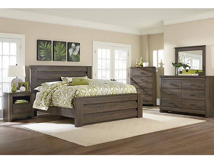 Haywood Queen Bed, Brown, , large