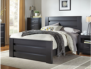 Haywood Queen Bed, Black, , large