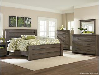 Haywood 6 Piece Queen Bedroom Set, Brown, , large