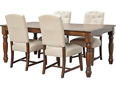 Paisley Court 5PC Dining Set, , large