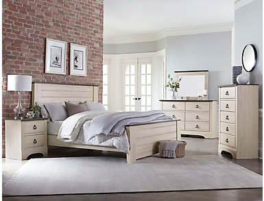 Rivervale 5 Piece Queen Bedroom Set, White Finish