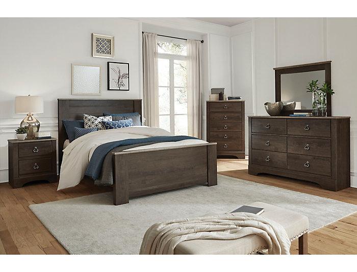Rivervale 5 Piece Queen Bedroom Set, Cherry