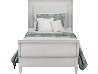 Sarah Rustic White Full Bed, , large
