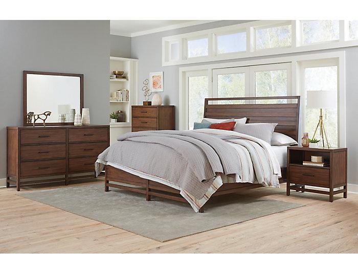 Thomas 3 Piece Queen Bedroom Set, Walnut, , Large