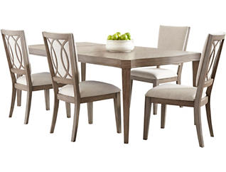 Morgan Chocolate Cherry 5 Piece Gathering Set with Swivel Stools