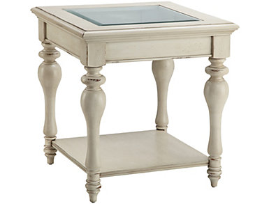 Delphi End Table, White, , large