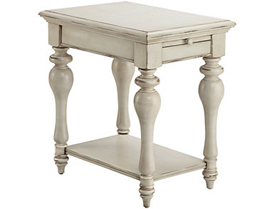 Delphi Chairside Table, White, , large
