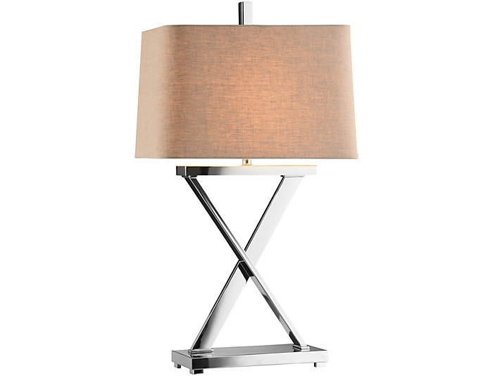 Max Polished Nickel Table Lamp, , large