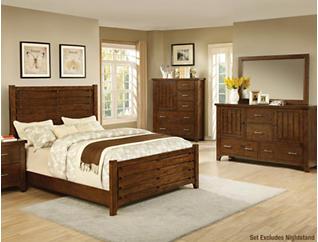 Mustang 6 Piece Queen Bedroom Set, , large