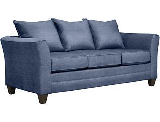 Fallon Blue Sofa with Miramar Abercorn Pillows, Blue/Abercorn, large