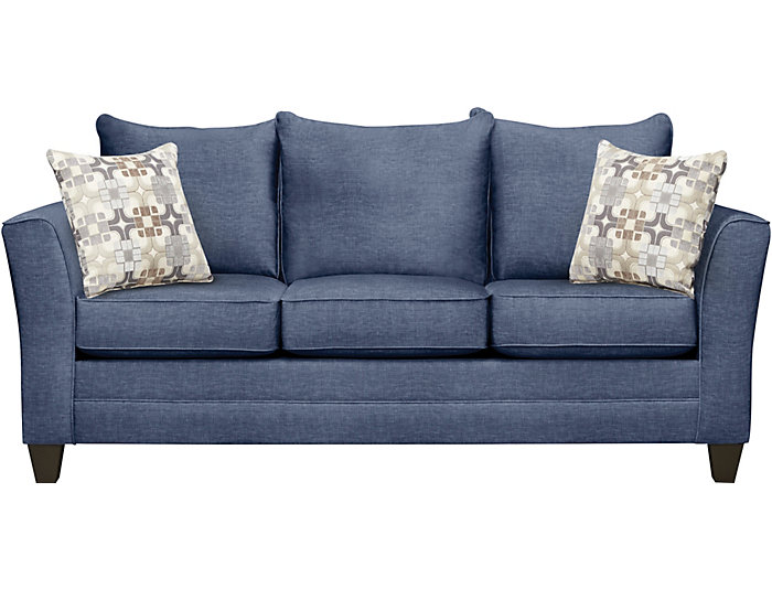 Sensational Fallon Blue Sofa With Jetson Moonstone Pillows Outlet At Beatyapartments Chair Design Images Beatyapartmentscom