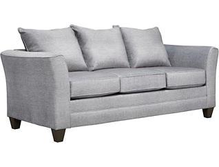 Fallon Fog Sofa with Miramar Abercorn Pillows, Fog/Abercorn, large