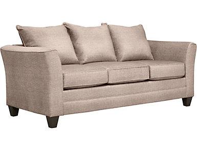 Fallon Sand Sofa with Miramar Abercorn Pillows, Sand/Abercorn, large