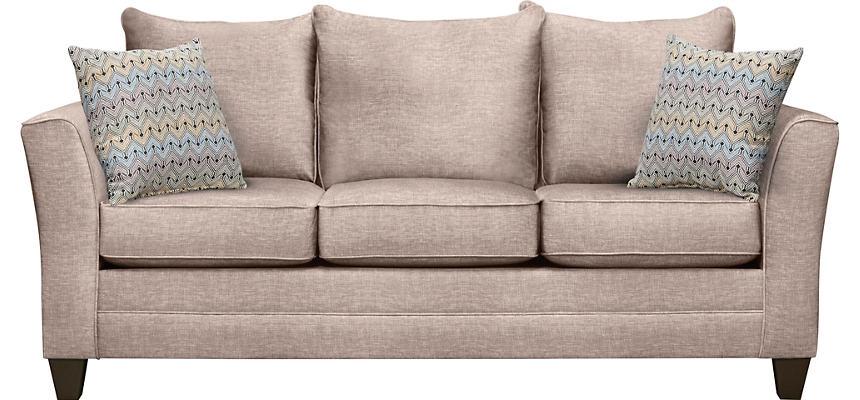 Fallon Sand Sofa With Hobby Nostalgic Pillows Large
